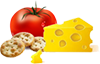 Jatz cheese & tomatoes